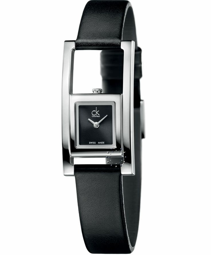 CALVIN KLEIN Unexpected Black Leather Strap Τιμή: 180€ http://www.oroloi.gr/product_info.php?products_id=37965