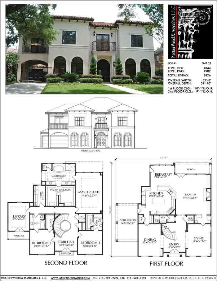 Two Story House Plan D4102 Residential Building Plan Two Story House Plans Home Design Floor Plans