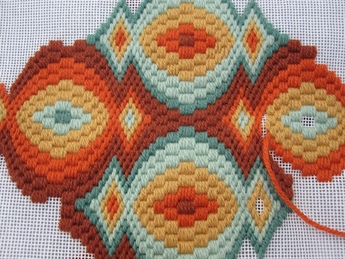 bargello needlepoint pillow