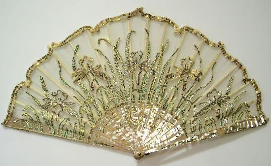"""""""Iris"""" Fan, Paris, circa 1905"""
