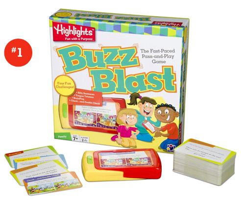 Language- 6 games recommended to target expessive and receptive language.  Buzz Blast, what's in the Hat?