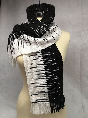 clasped weft handwoven scarf | Woven on a 15 inch Cricket Ri… | Flickr