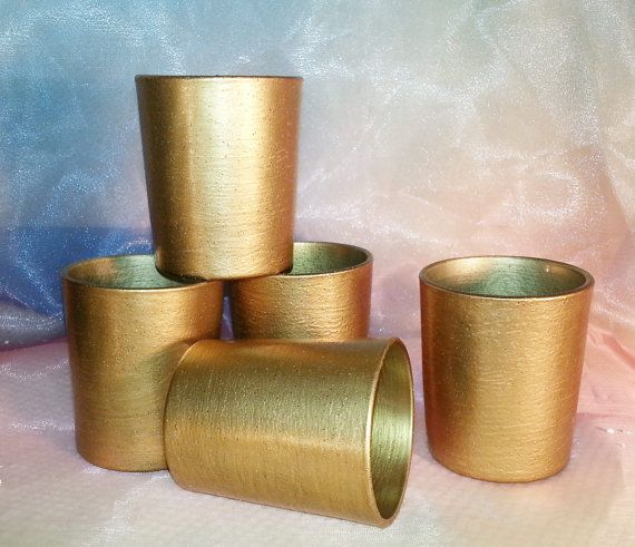 12 Medium Gold Votive Candle Holders for by VotivesGaloreAndMore