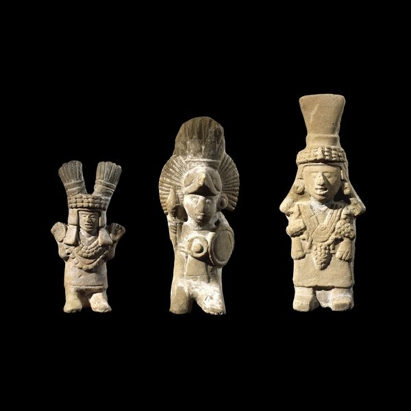 Group of three pottery figurines Mexica*, AD 1325-1521 From Mexico