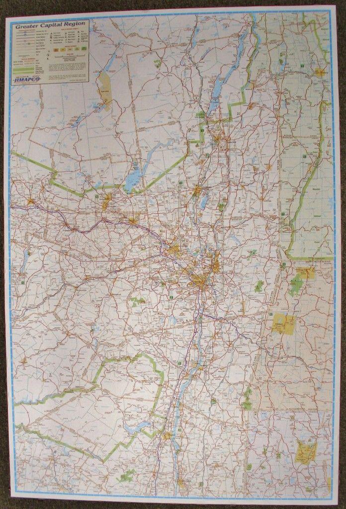 greater capital region laminated wall map wall maps on laminated wall maps id=36237