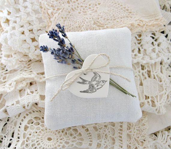 Lavender Sachets-French Linen Trio