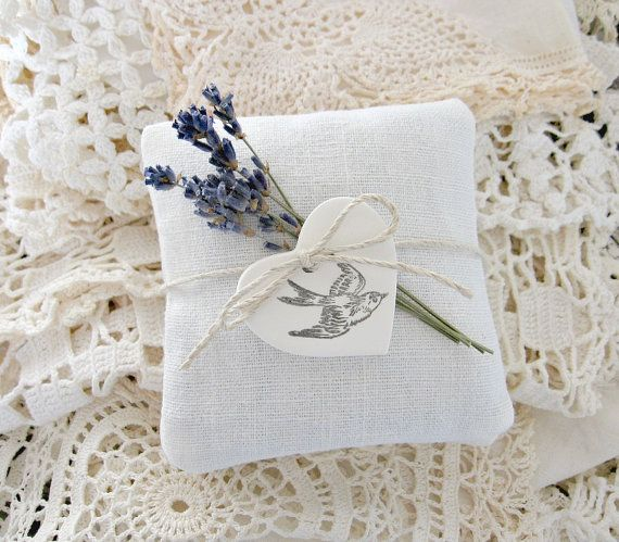 Lavender SachetsFrench Linen Trio by timewashed on Etsy, $18.00