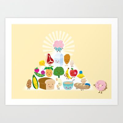 perfect pyramid Art Print by Jill Howarth - $16.00