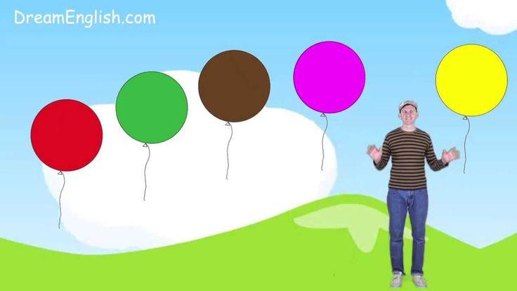 Liedje: Leer de kleuren voor kleuters (Engels)