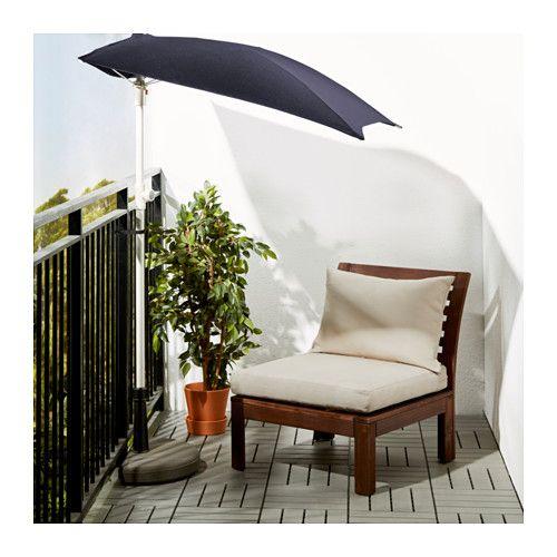 ÄPPLARÖ / HÅLLÖ Fåtölj, utomhus - brunlaserad/beige - IKEA