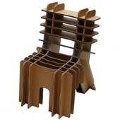 'Finish Your Self' deze stoel kan gezellig samen met je zoontje of dochtje in elkaar gepuzzeld worden, dan kan de kleine heerlijk zitten op de milieubewuste stoel! De verpakking is gelijk de doos! Ontworpen door David Graas.