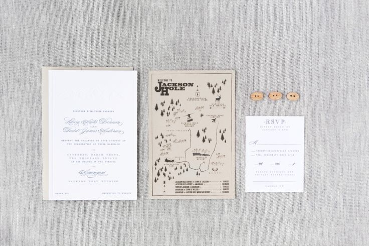 Hilary & David - Paper & Poste Custom Invitation