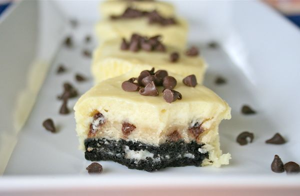 Oreo Chocolate Chip Cookie Dough Mini Cheesecakes ...
