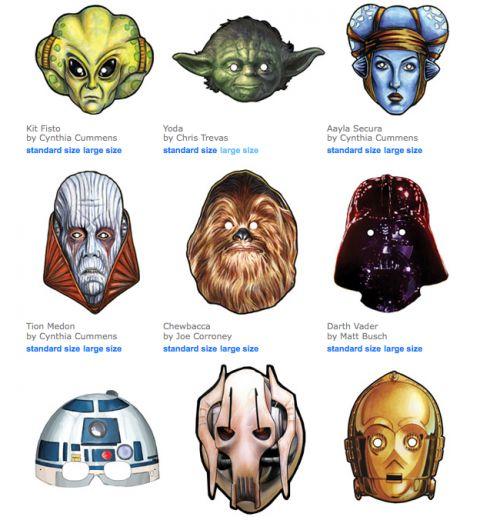 Free Printable Star Wars Masks