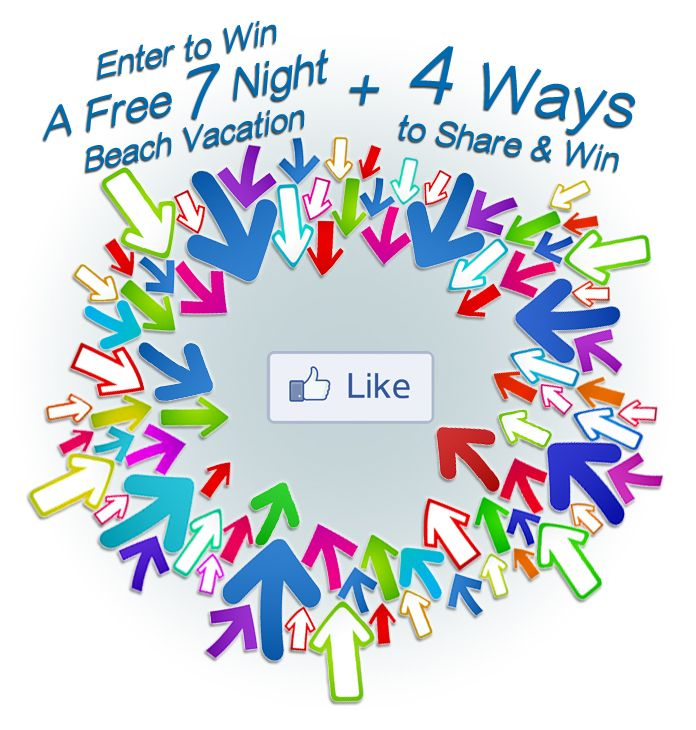 There are 5 ways to Win a Free 7 Night Beach Vacation with Condo World.