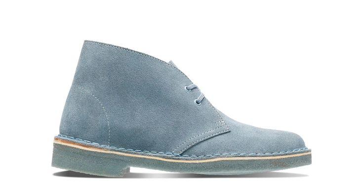 Womens Blue Grey Desert Boots | Clarks | Clarks