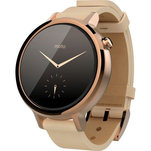 Motorola - Moto 360 2nd Generation Women's Smartwatch for Most Apple® iOS and Android Cell Phones - Rose Gold/Blush - Angle Zoom