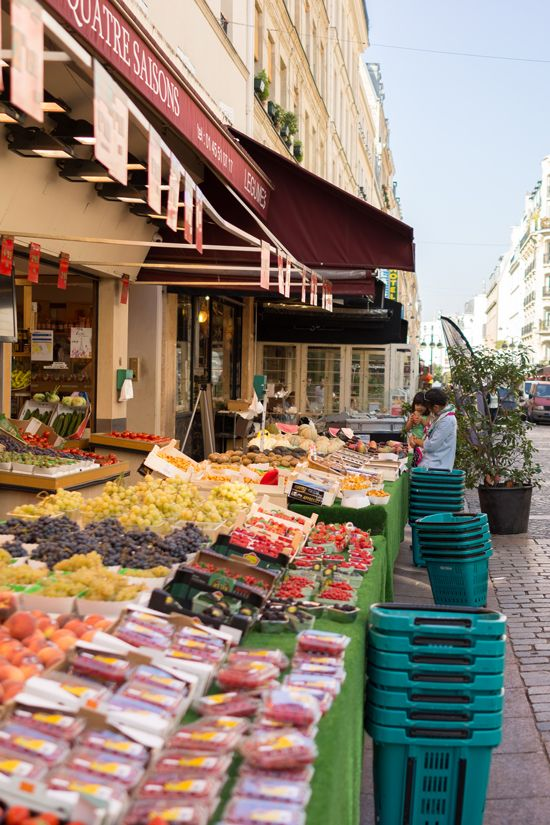 """One of our favorite areas in the 7th District is a little street full of shops called Rue Cler. It's sweet and quaint and fun to walk on because there's not a lot of traffic passing by."" OH JOY IN FRANCE / PART 1: WHAT WE ATE IN PARIS......"