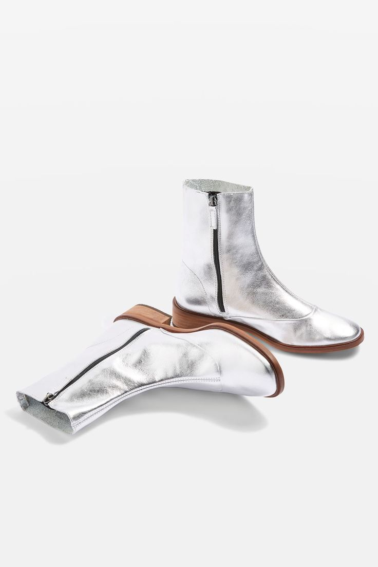 APRIL Metallic Leather Sock Boots - New In Fashion - New In - Topshop Europe