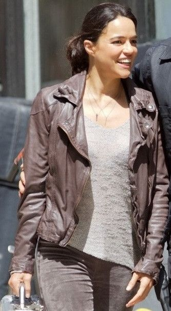 The Fate Of The Furious Michelle Rodriguez Leather Jacket