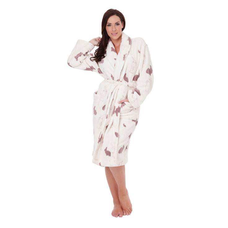 Robe de chambre Peignoir polaire -femme -motif lapin.
