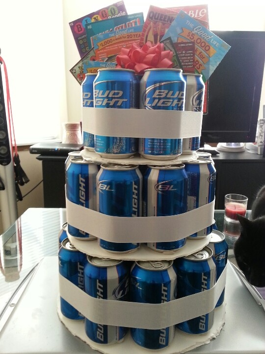 Beer Can Birthday Cake Gift Ideas Pinterest