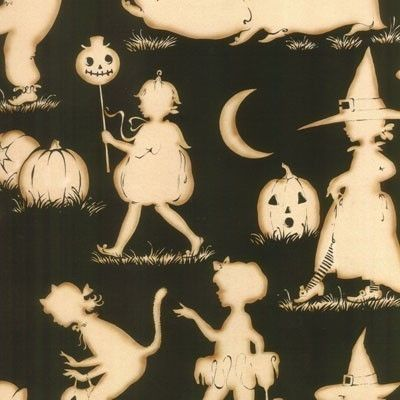 Alexander Henry Halloween Lane Black and Natural, love the print