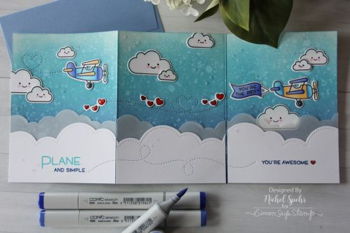 Nichol Spohr LLC: Lawn Fawn | Tri Fold Plane and Simple Scene Card