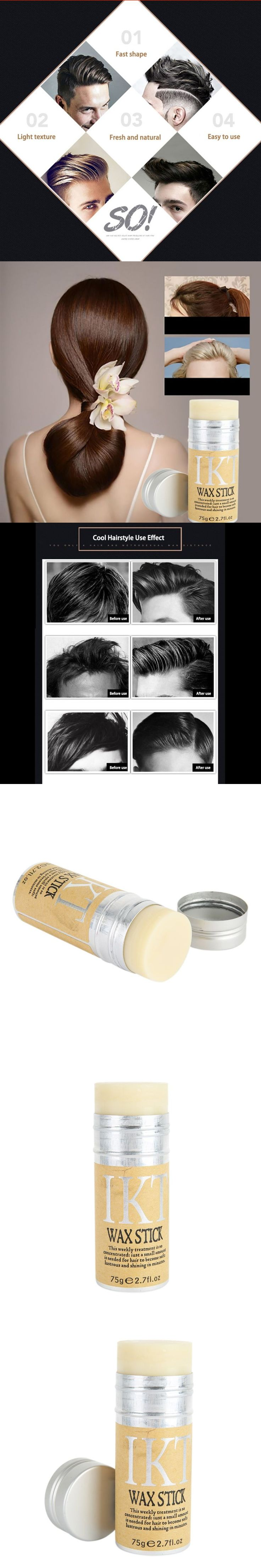 Styling Pomade Stick Rapid fixed Repair Hair Smell Fresh not oily Male Female Hair Wax Rod Broken Hair Finishing D2