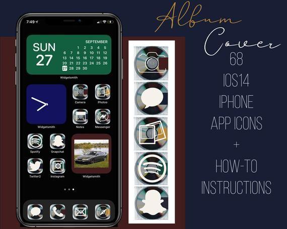 Album Cover Ios 14 Iphone App Icon Widget Bundle 68 App Etsy App Icon Iphone Apps App Icon Design
