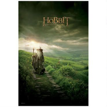 The Hobbit: An Unexpected Journey Poster Featuring Gandalf the Grey Walking in Middle-earth