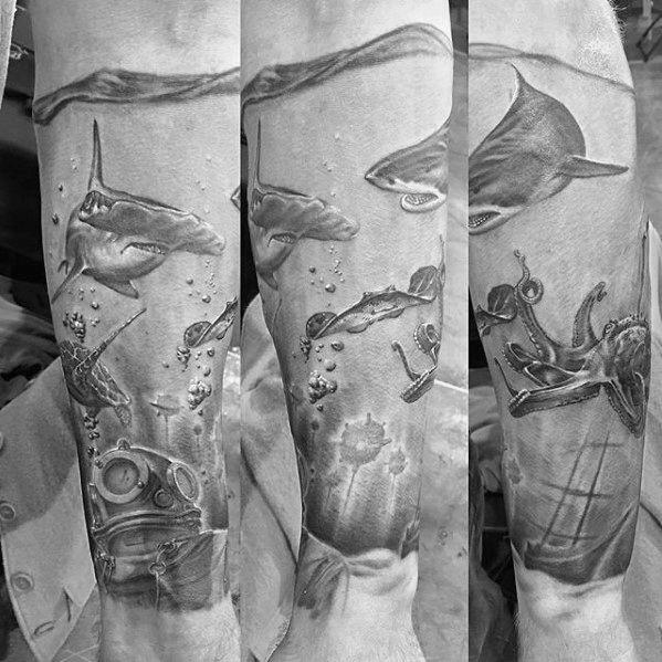 60 Diver Tattoo Designs For Men Underwater Ink Ideas Tattoo Designs Men Diver Tattoo Sea Tattoo Sleeve