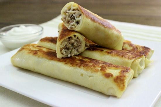 Ukraine memories! Savory Crepes With Meat Filling - Блинчики с Мясной Начинкой