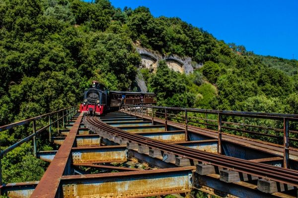 The legendary steam train of Pelion