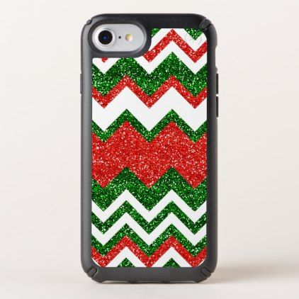 Retro Chic Red Green Zigzag Chevron Stripe Pattern Speck iPhone Case - vintage gifts retro ideas cyo