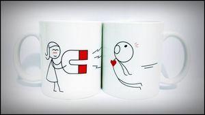 Kit com 2 Canecas Personalizada Love