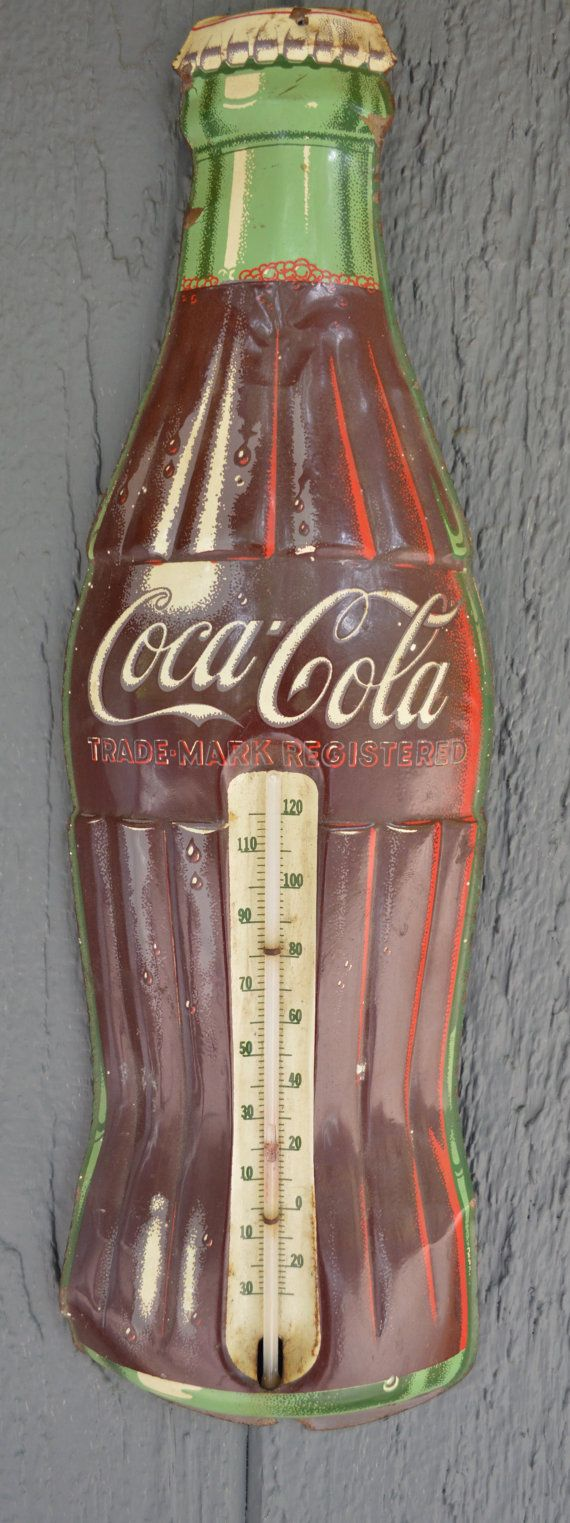 Vintage Coca Cola Sign Metal Coca Cola by Austinmodernvintage, $65.99