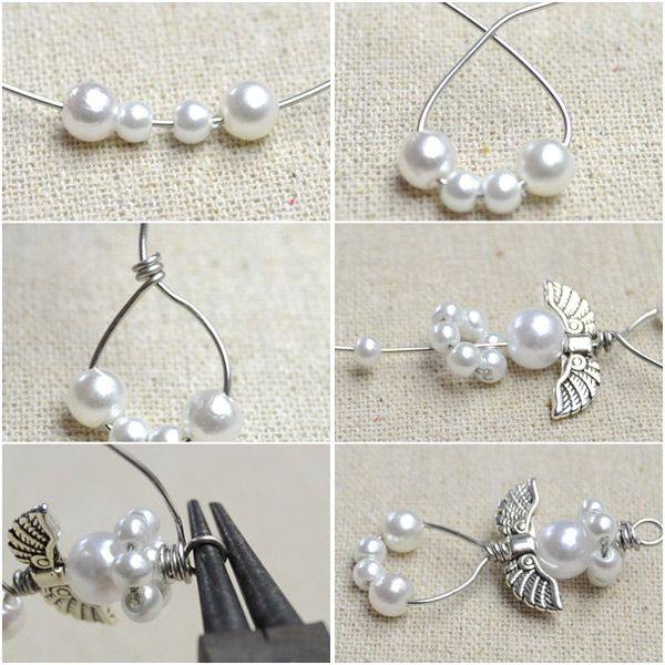 How to Make Angel Earrings http://tech.beads.us/details-How-to-Make-Angel-Earrings-3131.html
