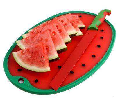Dexas watermelon knife and cutting board. www.Dexas.com ...