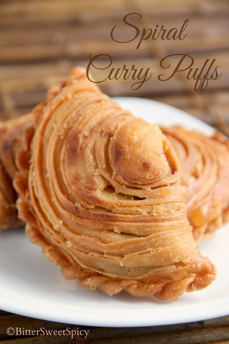BitterSweetSpicy: Spiral Curry Puffs