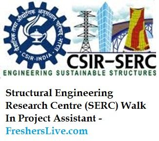 Structural Engineering Research Centre (SERC) Walk In Project Assistant- http://www.government-jobs.fresherslive.com/structural -engineering-research-centre-serc-walk-project-assistant-september-30-2014/