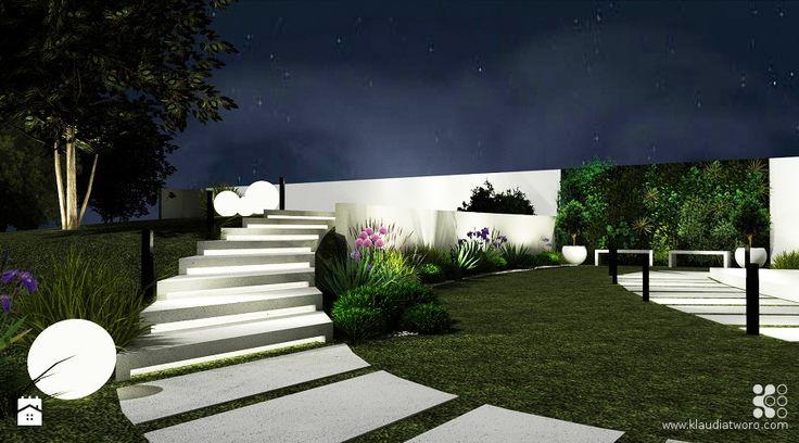 Ogród styl Nowoczesny - zdjęcie od Klaudia Tworo Projektowanie Wnętrz - Ogród - Styl Nowoczesny - Klaudia Tworo Projektowanie Wnętrz