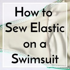 For most swimsuits, ready-to-wear or handmade, the edges of the swimsuit are stabilized and finished with elastic. The elastic is sewn to the inside of the suit and then folded over and topstitched. It's really…