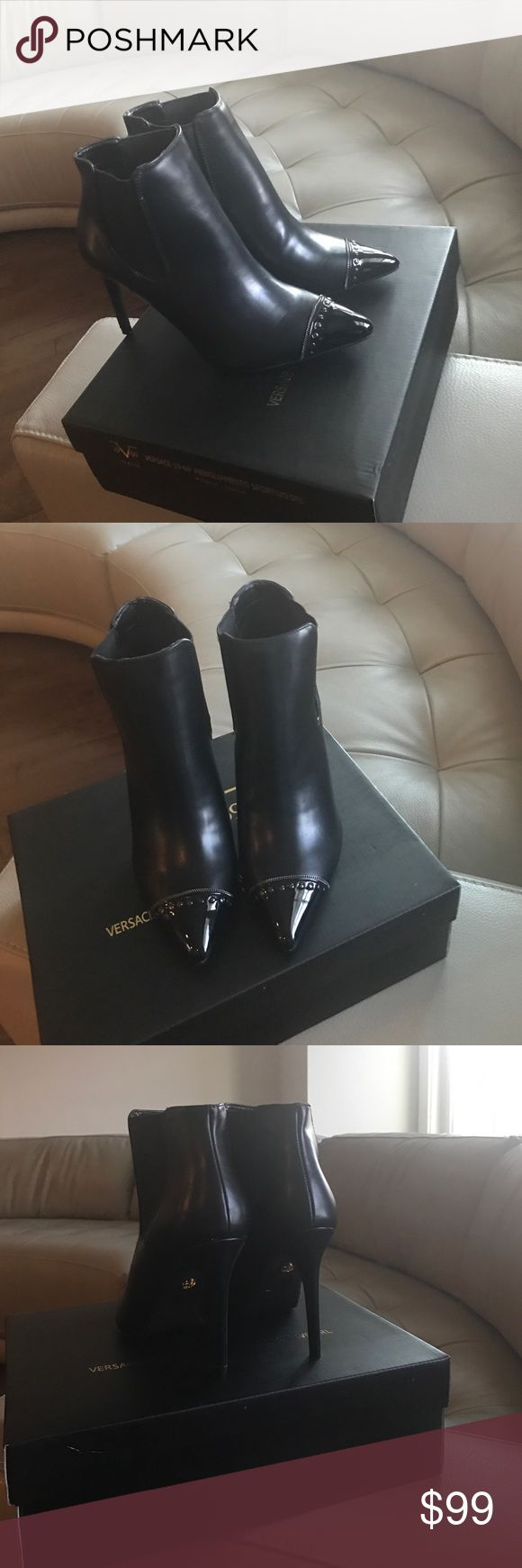 VERSACE 😍brand New bootie with its original box😇 Very elegant bootie😍😍 Versace Shoes Ankle Boots & Booties