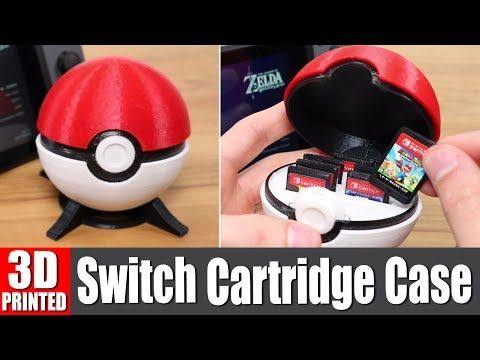 3d printed pokeball switch cartridge case -  | my stuff ...