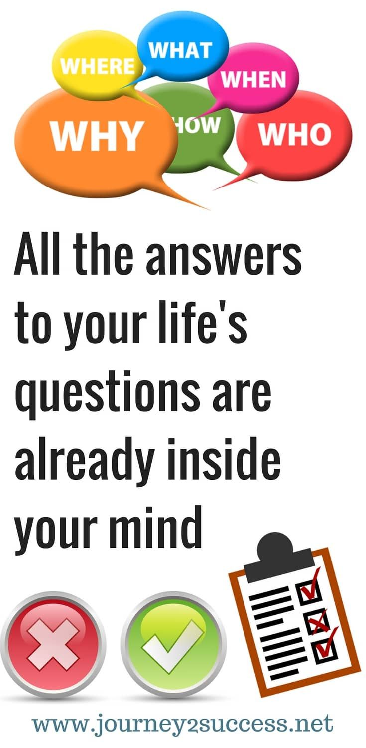 All the answers to your life's questions are already inside your mind - self improvement tips self improvement thoughts