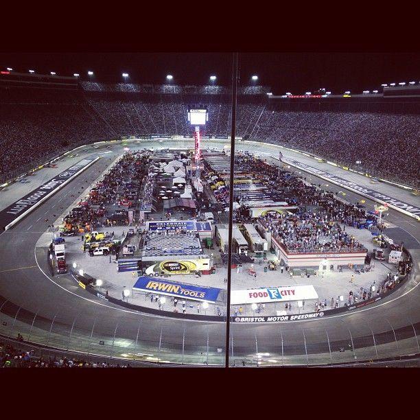 The Night Race. #NASCAR @ Bristol Motor Speedway Photo by jeff_gluck • Instagram