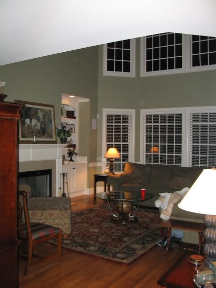 Image Gallery Website bm cheyenne green living room Our powder room paint color Makes our art pop