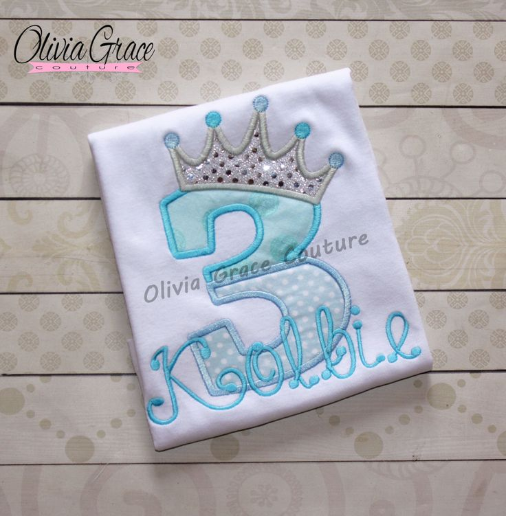 Princess Birthday Shirt - Girls Birthday Shirt - Frozen Birthday -Embroidered Bodysuit or Shirt for 1st, 2nd, 3rd, 4th, 5th, 6th Birthday by OliviaGraceCouture on Etsy
