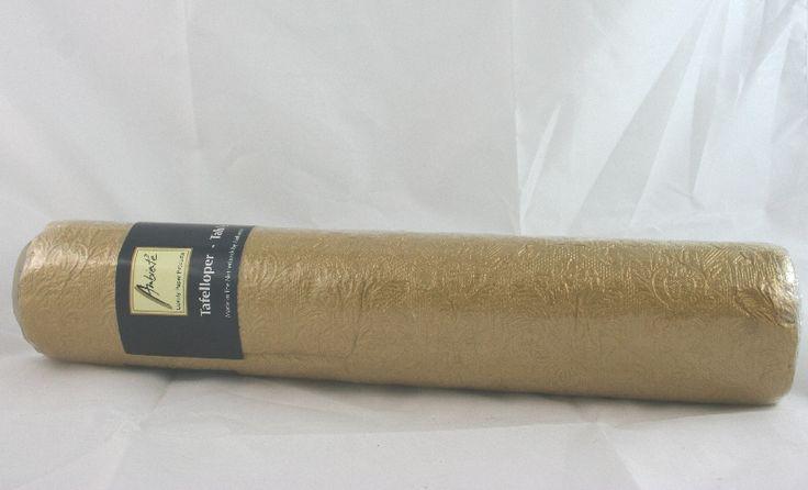 Runner Nappa color Oro. Decorazione centrale per la tavola, in carta, cm.33 lunga 6 mt. Apparecchiare a Natale, Anniversari e ricorrenze. Disponibile da C&C Creations Store